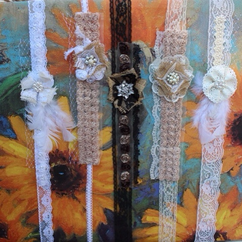 gypsy, boho chic headbands