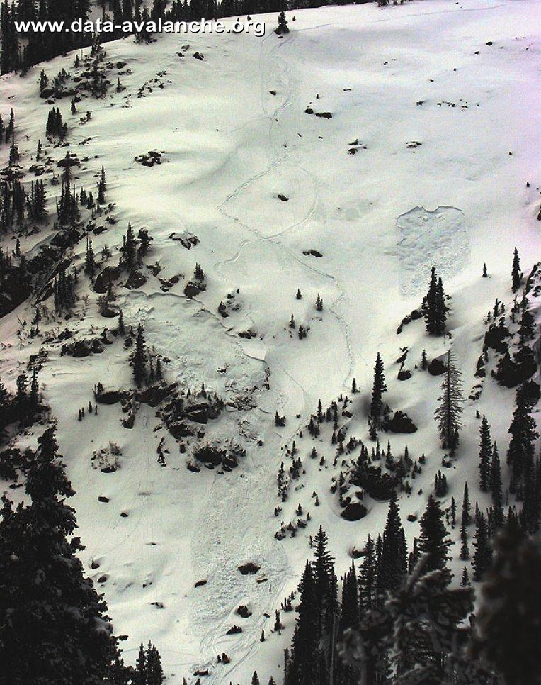 Avalanche Soda Mountain, Co, Flume of Doom, near Buffalo Pass, NE of Steamboat Springs - Photo 1