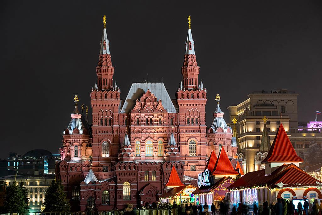 莫斯科夜景 紅場 國家歷史博物館