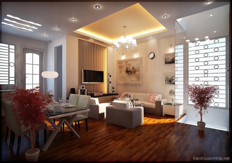 Thiết kế phòng khách, bếp