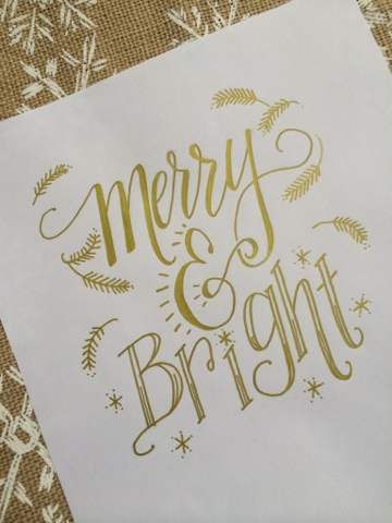 Hand Lettering- Merry & Bright