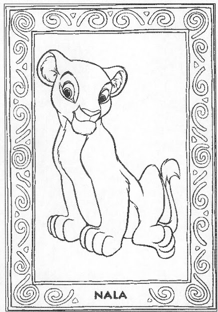 The Lion King Nala Colouring Pages For Lion King Coloring Games