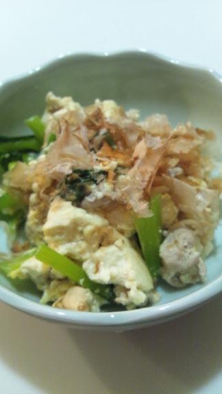 小松菜チャンプルー