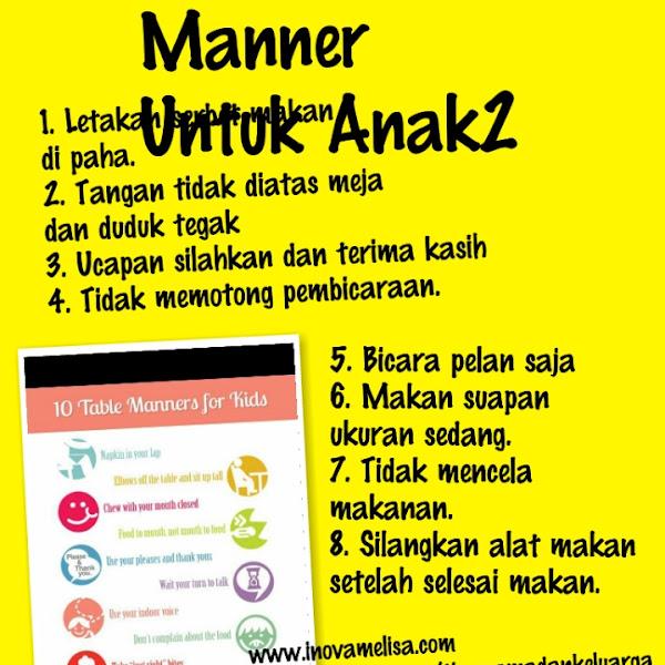 Table Manner Untuk Anak Anak