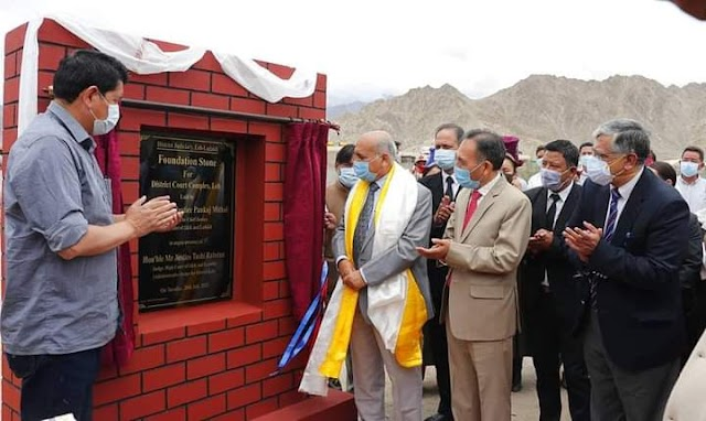 Chief Justice Pankaj Mithal Lays Foundation Stone for New District Court Complex at Leh