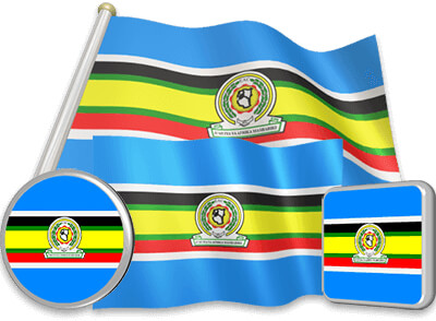East African Community flag animated gif collection