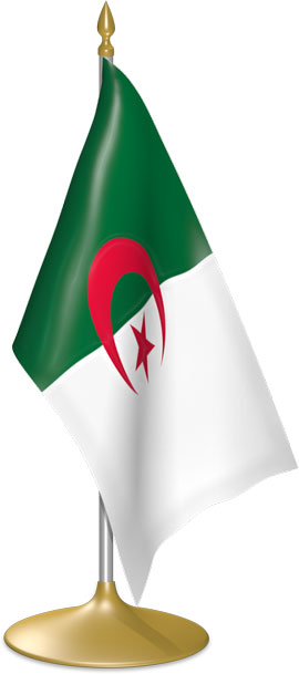 Algerian table flags - desk flags