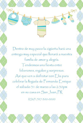invitaci n para baby shower