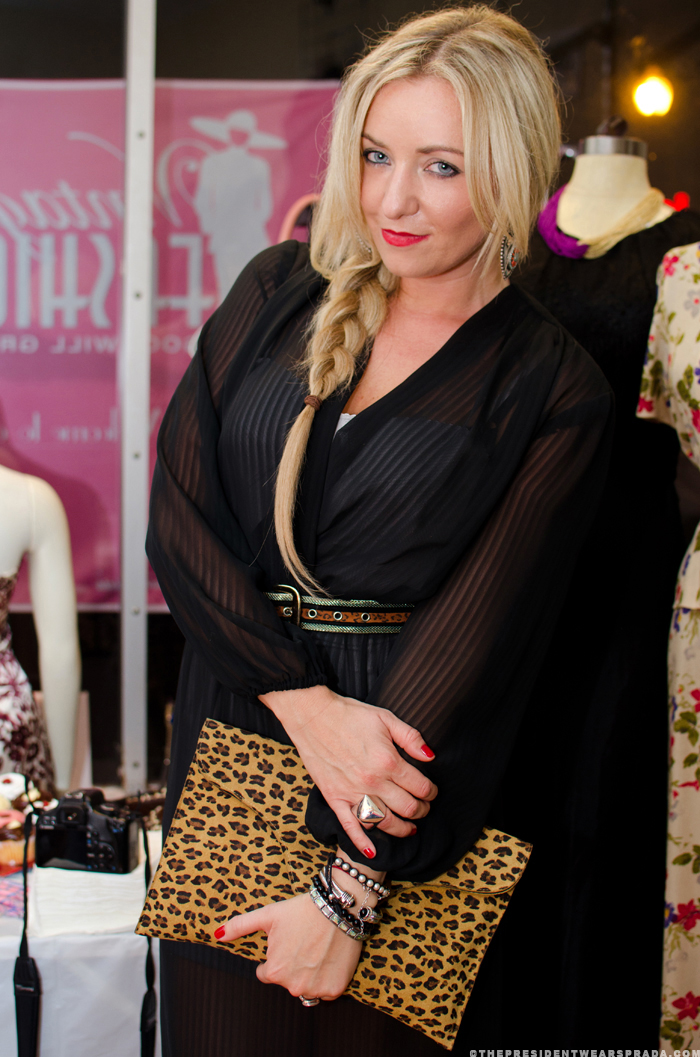 Katya at Vintage Fashion Week