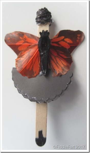 Popsicle Stick Fairy with Butterfly wings