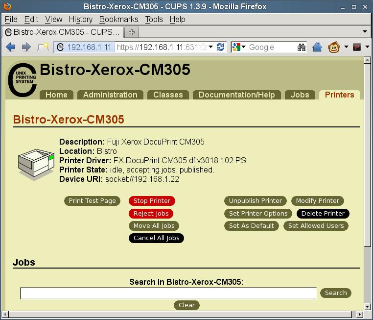 ติดตั้งไดร์เวอร์ Fuji Xerox DocuPrint CM305 on SUSE Linux Enterprise