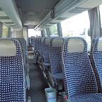 Het interieur van de Mercedes Tourino van Dino bus