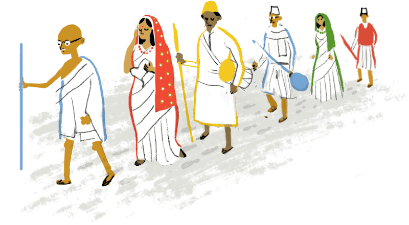 India independence day 2015 Google Doodle
