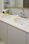 Polished Divinty White double vanity top