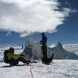 Fotos da ascensión ó Pisco, na Cordillera Blanca, nos Andes do Perú.