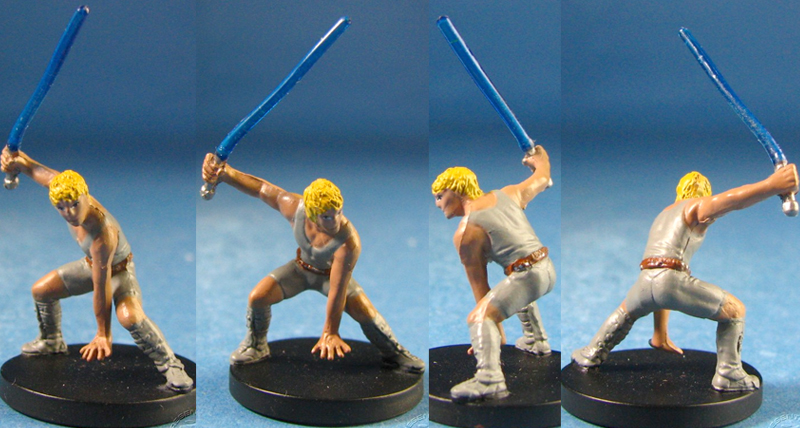 star wars miniature The clone of Luke Skywalker Luuke custom Cade Skywalker, Padawan #25 Jedi Academy Star Wars Miniatures Custom Customize and Painting Thrawn campaign crisis Trilogy