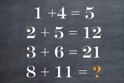 الغاز رياضيات للاذكياء مع الحل . ماذا يكون الجواب مكان علامة الاستفهام ؟