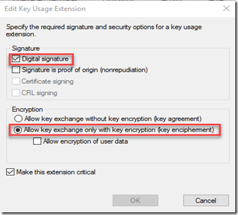 Key Usage Extension