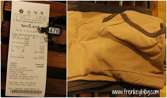 Bon Pembayaran, Kunci Loker dan Baju Jjimbilbang