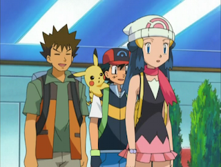 brock looks after dawn