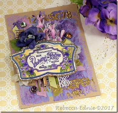 layered violette card
