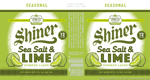 Shiner Adding NEW Sea Salt & Lime Summer Lager
