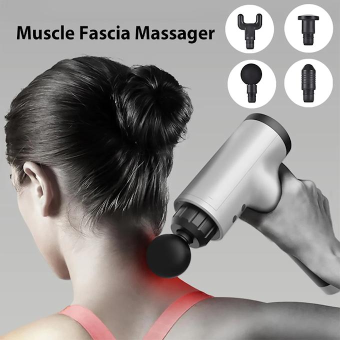 Facial massager, muscle relaxer with 6 speeds - black EU plug
