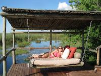 Relaxing in the bush - Duma Tau Camp, Botswana