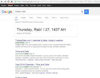 search results show hijri calendar and not gregorian