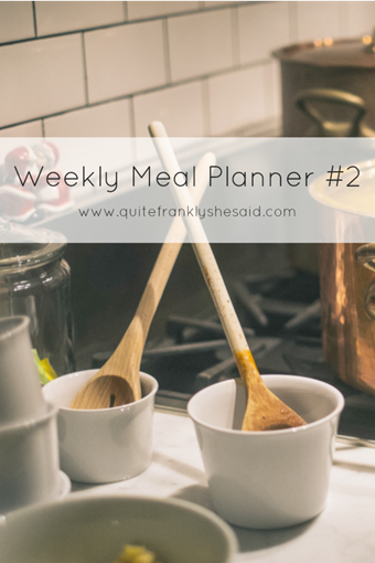 weekly meal planner pin