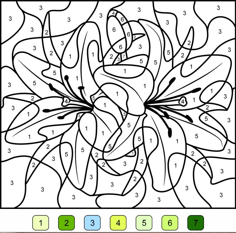dessin a colorier avec des chiffres