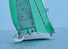 J/111 sailboat- sailing on reach in Bayview Mackinac