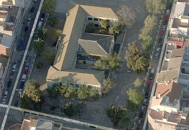 Vista aèria del col·legi Francesc de Borja