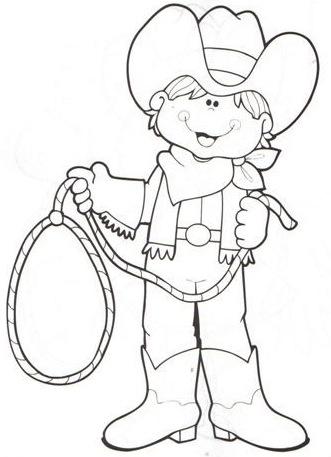 Dibujos De Vaquero Para Colorear