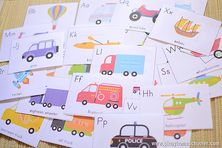 Transportation Unit: FREE A to Z Vehicle Cards