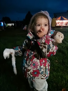 Youngest at fireworks