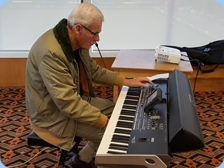 Arthur Reid played the arrival music on his Korg Pa3X.