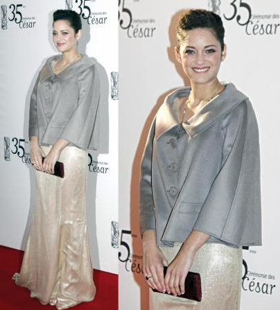 Marion Cotillard on the red carpet of the 2010 Cesar Awards in Paris