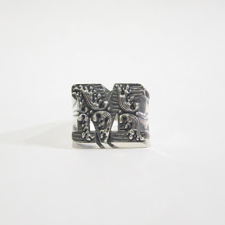 "Sterling Silver Nove25 New Initial ""M"" Ring"
