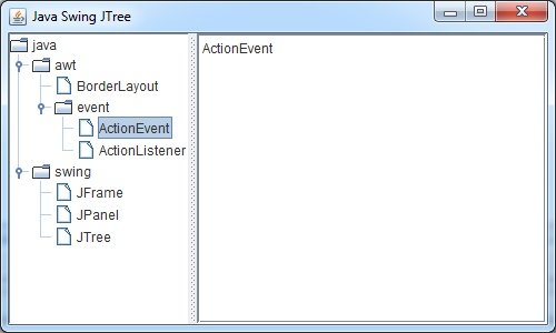 Print report in java swing tree
