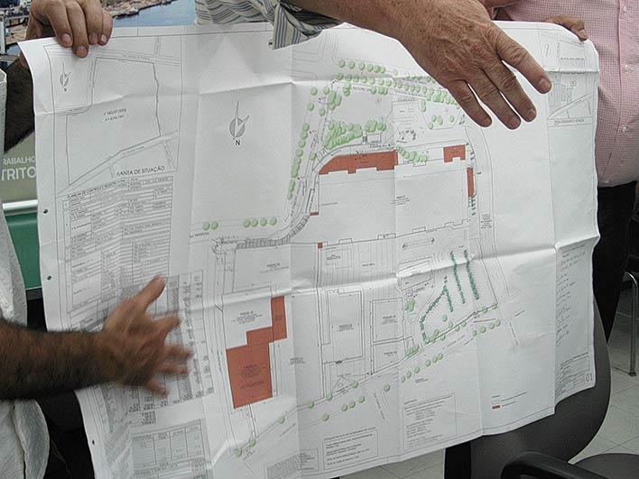 Cadê a área onde seria o complexo OSPA (à direita da planta)?