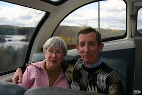 Mom and dad in the dome car