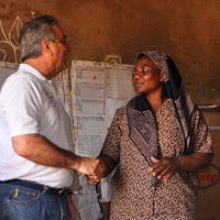 Pastor Jeff meeting one of the local village leaders.