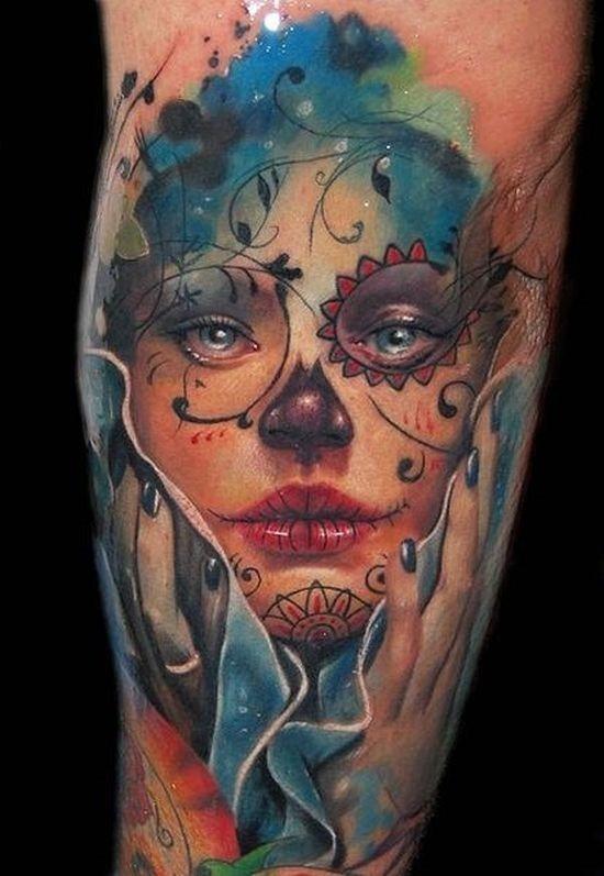 braço_de_açcar_desenho_de_tatuagem_de_caveira