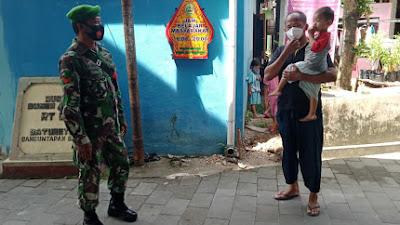 Babinsa Koramil 14/Bambanglipuro Ajak Warga Sukseskan Vaksinasi COVID-19