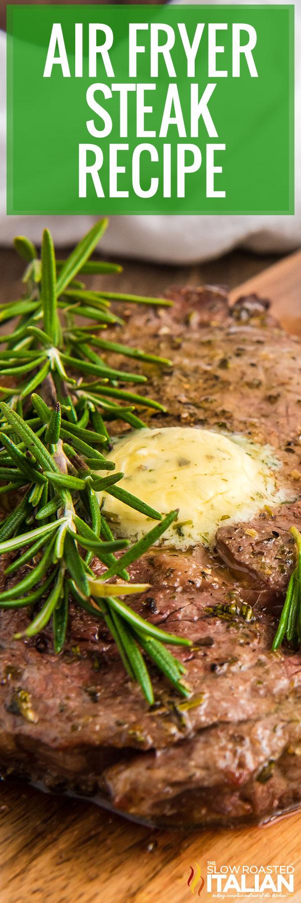 Air Fryer Steak Recipe closeup