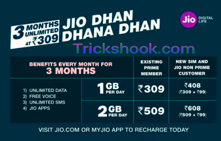 How to Get 84 Gb Jio 4G Data As per Jio Dhan Dhana Dhan offer