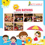 Celebration of Sun bathing activity in Witty World on 1st feb,2016