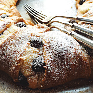 Black Cherry Almond Crescent Ring Dessert Recipe