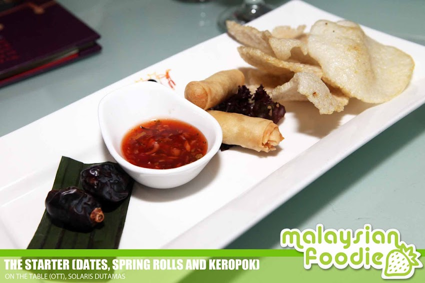 RAMADHAN DELIGHTS AT ON THE TABLE,  SOLARIS DUTAMAS ( INVITED REVIEW)